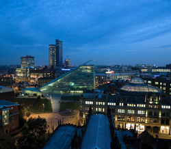 image of Manchester City at night